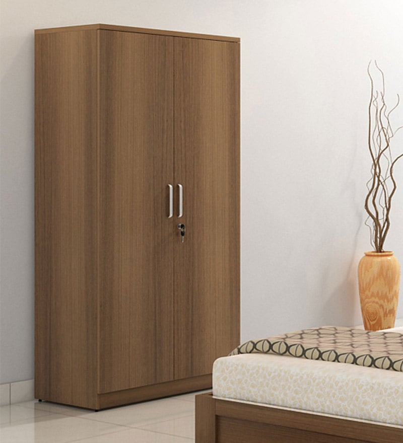 Subaru Two Door Wardrobe in Bronze Walnut Finish by Mintwud