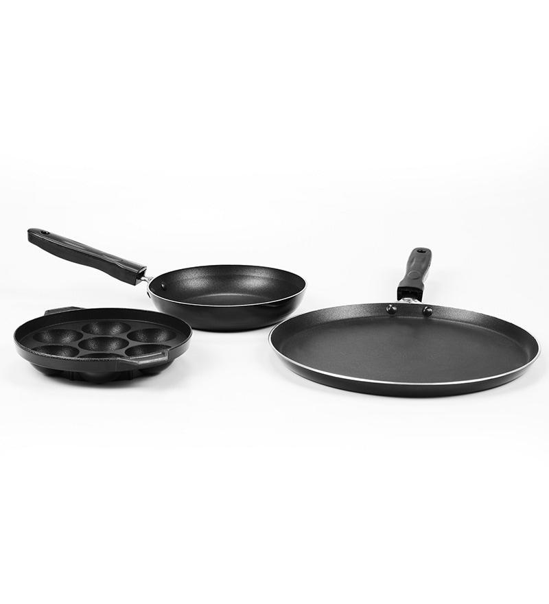 Tricon Aluminium Nonstick Gift Set - Set of 3 by Sumeet