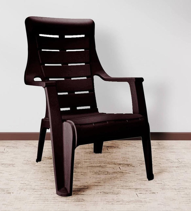 Sunday Chair in Brown Colour by Nilkamal