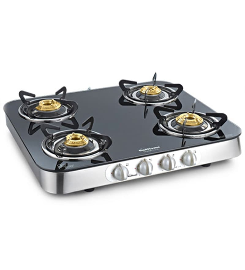 Sunflame Crystal Curve Toughened Glass 4-burner Cooktop