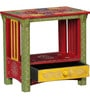 Sitra Hand Painted End Table by Mudramark