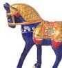 Suriti Blue Aluminium Horse Showpiece