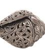 Suriti Silver Tone Aluminium Floral Metal Shankh Showpiece