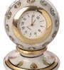Suriti White Stoneware Marble Mini Clock