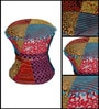 Elkview Pouffe in Multi-Color Finish by Bohemiana