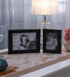 SViRU Black Synthetic And Glass Collage Photo Frame  - Set Of 2 - 1587910