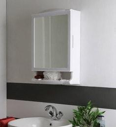 SWK Sanitaryware Niflox White Plastic 14.5 X 5.5 X 22 Inch Bathroom Mirror Cabinet