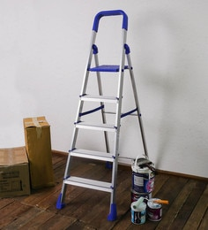 SWK Sanitaryware PPCP & Aluminium 5 Steps 5.8 FT Folding Ladder