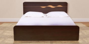 Swirl King Bed in Denver Oak Finish by Hometown at pepperfry