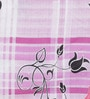 Swastika Purple Cotton Queen Size Bed Sheet with 2 Pillow Covers