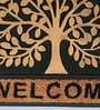 Black Rubber 24 x 16 Inch Tree of Life Door Mat by SWHF