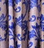 Blue Jacquard 83 x 47 Inch Printed Curtain - Set of 2 by SWHF