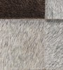Grey Leather 35 x 59 Inch Large Rug Patch Work Rug by SWHF