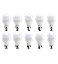 Syska B22 12-Watt LED Bulb (Pack Of 10, Warm White/Yellow )