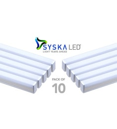 Syska 22 Watts T5 LED Tube Light (Pack Of 10, Warm White/Yellow )