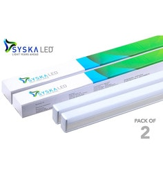 Syska T5 Cool Day Light 16-Watt LED Tube Lights - Set Of 2