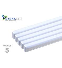 Syska T5 Cool Day Light 18-Watt LED Tube Lights - Set Of 5