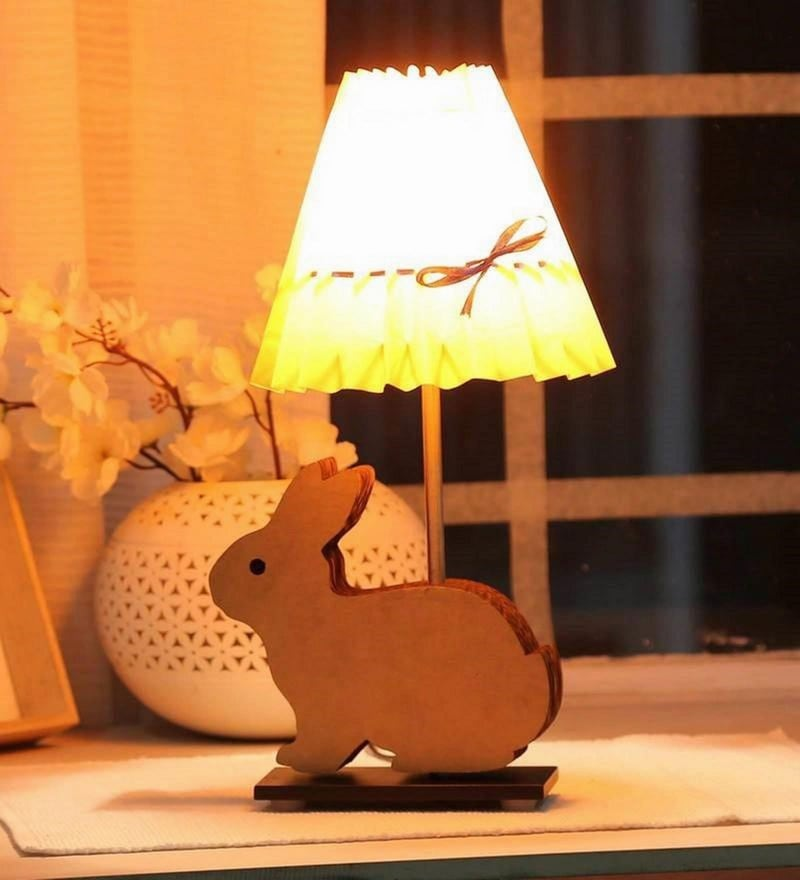 Yellow Paper Bunny Table Lamp by Sylvn Studio