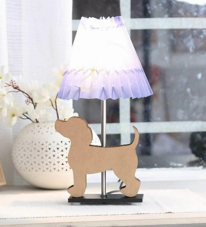Blue Paper Puppy Table Lamp by Sylvn Studio