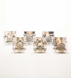 Take Me Home Glass T-lite Holder - Set Of 6
