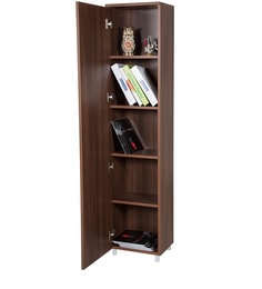 Tall Book Case In Walnut Colour By Addy Design