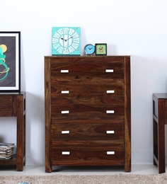 Oriel Chest Of Five Drawers In Provincial Teak Finish