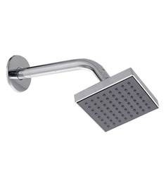 Taptree Silver Black Abs Br 4 X Inch Square Over Head Shower With