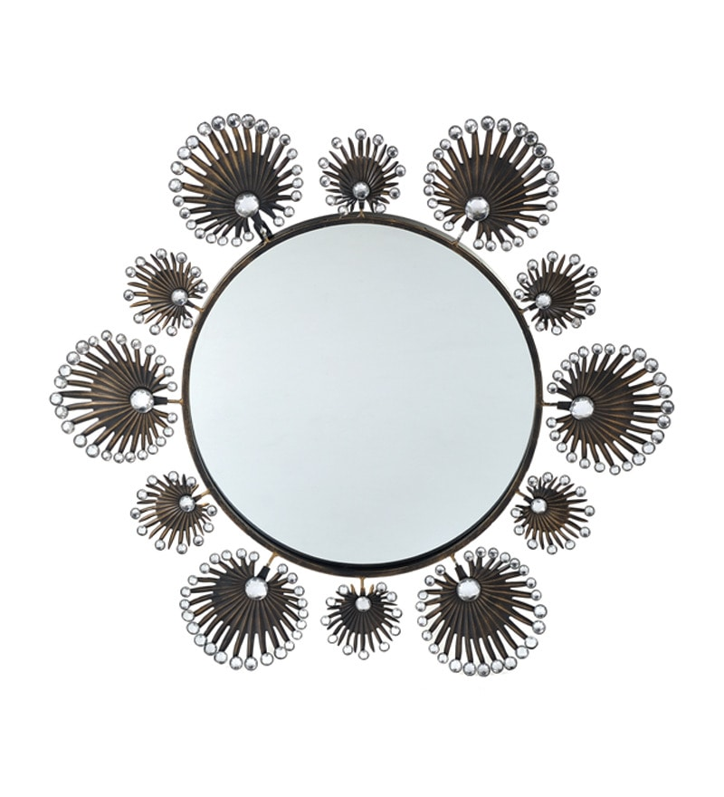 Take Me Home Handcrafted Beaded Circular Mirror