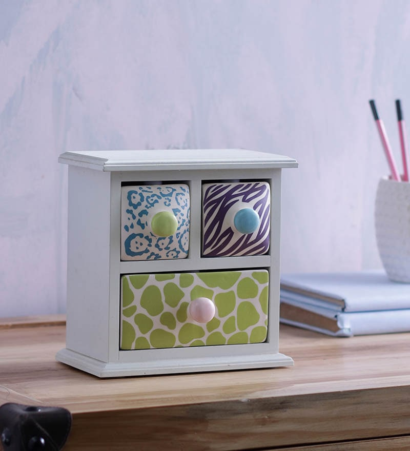 Take Me Home Multicolour Ceramic Hand Crafted Chest