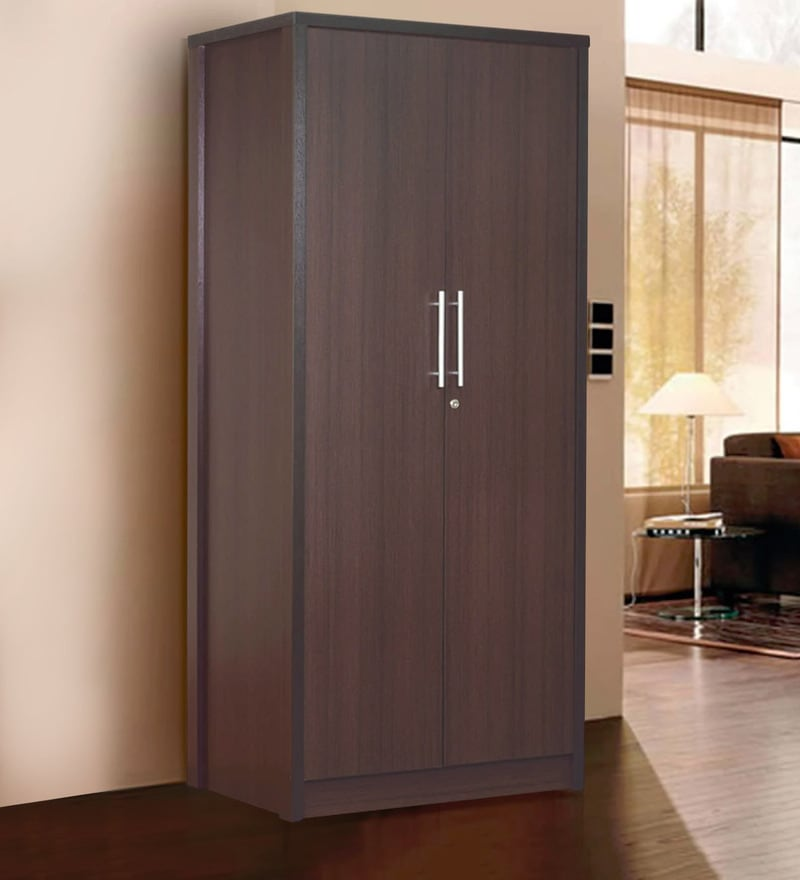 Takeshi Two Door Wardrobe in Wenge Finish by Mintwud