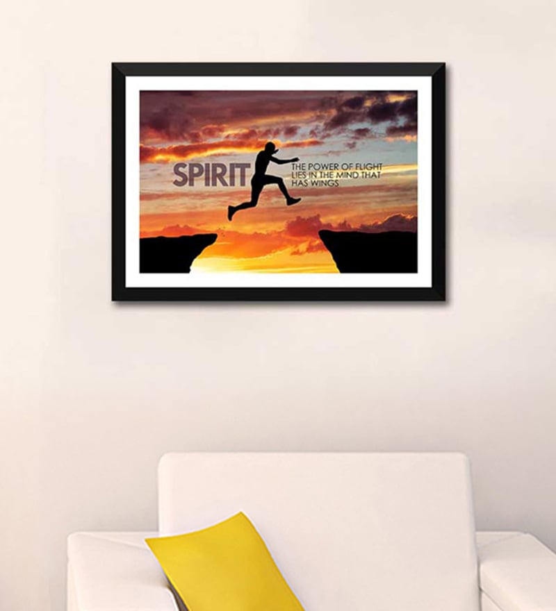 Paper 12 x 13 Inch Spirit Framed Poster by Tallenge