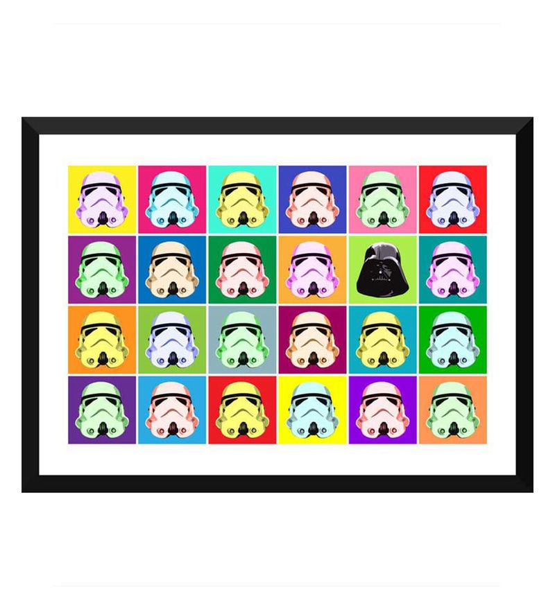 Paper 17 x 0.5 x 12 Inch Hollywood Collection Star Wars Stormtroopers Pop Art Framed Digital Poster by Tallenge