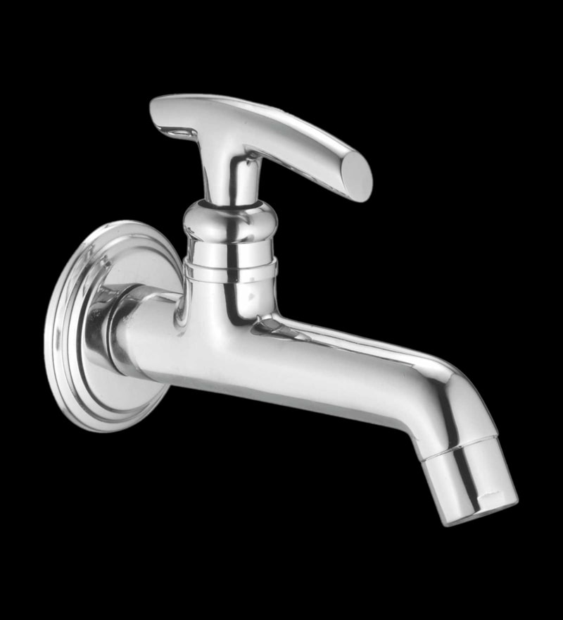 Taptree Oasis Silver Brass Long Body Basin Tap