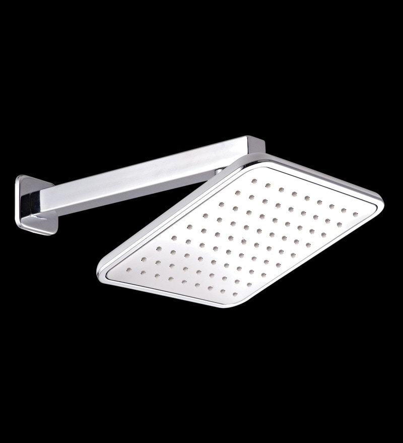 Taptree White ABS & Brass 8 x 8 Inch Back Cover Head Shower with Pipe