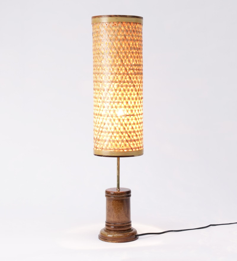 Buy Beige Bamboo Table Lamp By Kraftinn Online