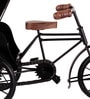 Brown & Black Wood & Metal Vintage Cycle Taxi Showpiece by Zahab