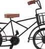 Brown & Black Wood & Metal Vintage Cycle Showpiece by Zahab