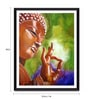 Photographic Paper 12 x 1 x 18 Inch Buddha Art Framed Digital Art Print by Tallenge