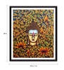 Photographic Paper 18 x 1 x 24 Inch Buddha With Flowers And Leaves Framed Digital Art Print by Tallenge