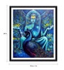 Photographic Paper 18 x 1 x 24 Inch Buddha With Peacock Framed Digital Art Print by Tallenge