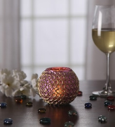 Gupta Glass Gallery Multicolour Metal Tea Light Holder - 1566086