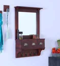 Teak Wood 3 Drawer Dressing Mirror