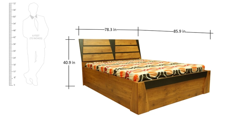 Buy texas king bed with storage by evok online king for Buy king bed online