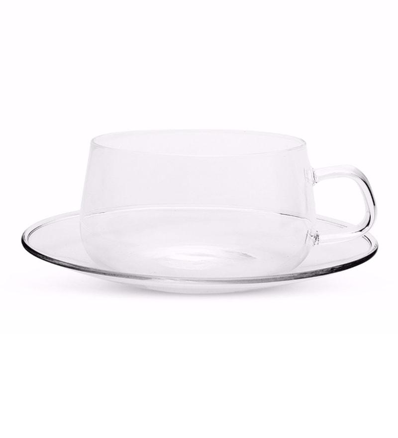 Buy Teabox Corona Microwave Safe White Porcelain 201 ML Cup