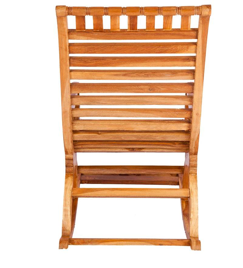 buy teak wood rocking chair in light teak finish by karigar online rocking chairs chairs pepperfry - Wood Rocking Chair