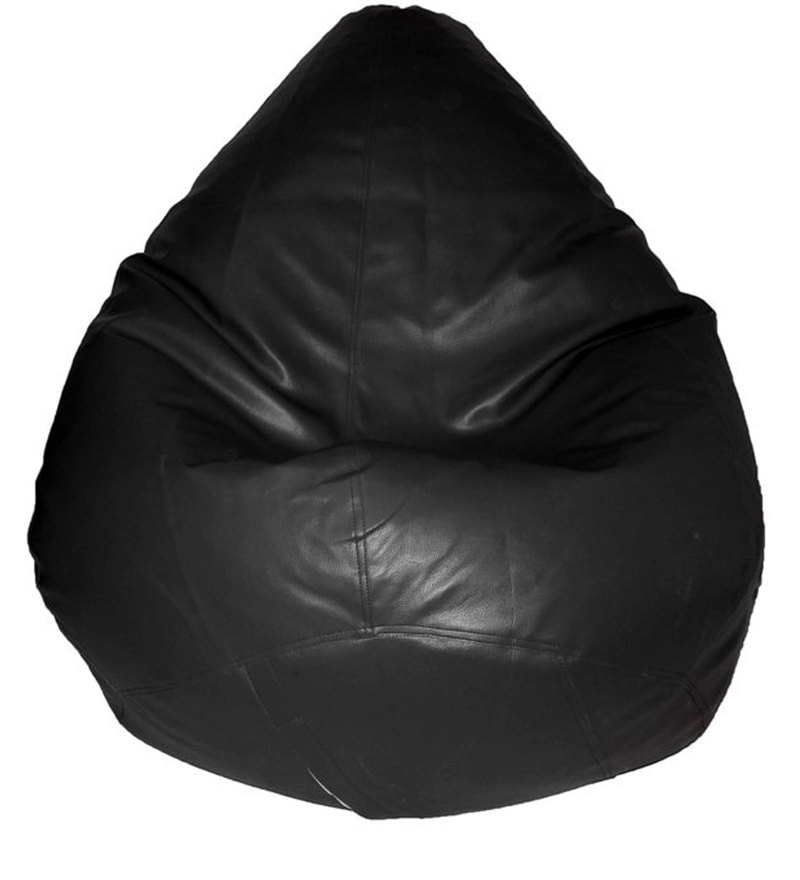 Teardrop Bean Bag Cover in Black Colour by Feel Good