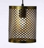 Gold Iron Hanging Light by Tezerac