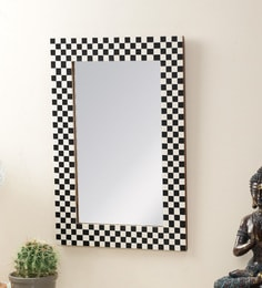 Black & White Resin Mirror By The Decor Mart