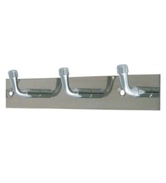The Dream Artz Stainless Steel 3 Pins Robe Hooks - Set Of 2