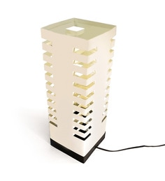The Light Box Off White Paper Skycraper Lamp Shade